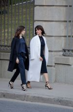 LILY COLLINS and PENELOPE CRUZ on the Set of Lancome Commercial in Barcelona 06/12/2017