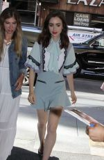 LILY COLLINS Arrives at Today Show in New York 06/26/2017