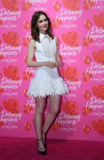 LILY COLLINS at Lancome