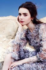LILY COLLINS in Glamour Magazine, Mexico July 2017