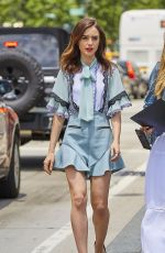 LILY COLLINS Out in New York 06/26/2017