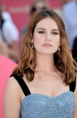 LILY JAMES at Baby Driver Premiere in London 06/21/2017