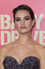 LILY JAMES at Baby Driver Premiere in Los Angeles 06/14/2017