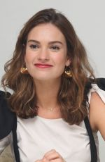 LILY JAMES at Baby Driver Press Conference in Los Angeles 06/13/2017