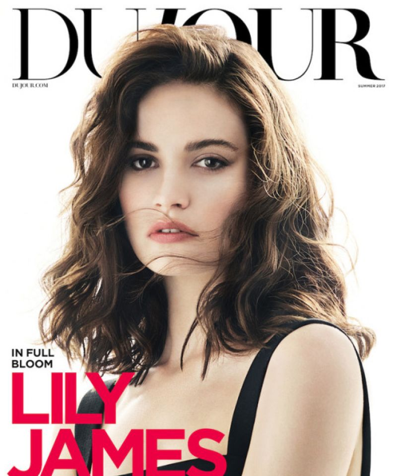 LILY JAMES for DuJour, Magazine, Summer 2017