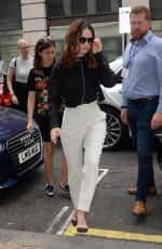 LILY JAMES Leaves BBC Radio 2 Studios in London 06/22/2017