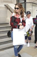 LILY JAMES Leaves Corinthia Hotel in London 06/22/2017