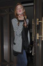 LINDSAY LOHAN at Dorchester Hotel in London 06/02/2017