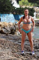 LISA APPLETON in Bikini on the Beach in Spain 06/12/2017