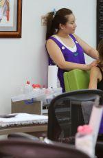 LISA RINNA at a Nail Salon in Beverly Hills 06/27/2017