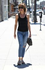 LISA RINNA Leaves a Nail Salon in Beverly Hills 06/27/2017