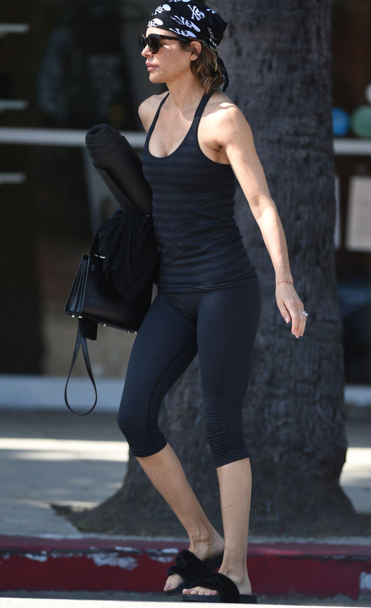LISA RINNA Leaves Yoga Class in Los Angeles 06/09/2017