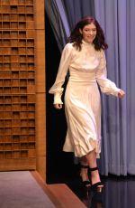 LORDE at Tonight Show Starring Jimmy Fallon 06/15/2017