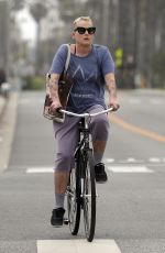 LORI PETTY Out for a Bike Ride in Santa Monica 06/01/2017
