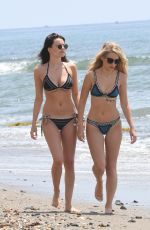 LOTTIE MOSS and EMILY BLACKWELL in Bikinis on the Beach in Marbella 05/28/2017