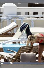 LOTTIE MOSS and FRANKIE GAFF in Bikinis on Vacation in Ibiza 06/11/2017