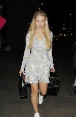 LOTTIE MOSS and JESS WOODLEY Leaves Ours Restaurant in London 07/01/2017