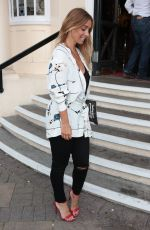 LOUISE REDKNAPP Arrives at New Wimbledon Theatre in London 06/17/2017