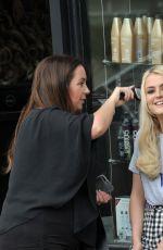 LUCY FALLON at a Hair Salon in Dublin 06/17/2017