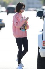 LUCY HALE Out for Coffee in Los Angeles 06/09/2017