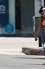 LUCY HALE Out for Coffee in Los Angeles 06/21/2017