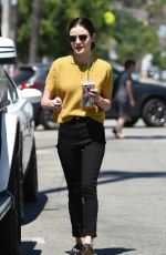LUCY HALE Out for Coffee in Los Angeles 06/27/2017