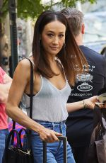 MAGGIE Q Leaves Her Hotel in New York 06/09/2017
