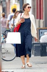 MAGGIE GYLLENHAAL Out Shopping in New York 06/13/2017