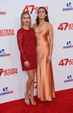 MANDY MOORE and OLIVIA HOLT at 47 Meters Down Premiere in Los Angeles 06/12/2017