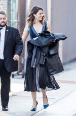 MANDY MOORE Arrives at Jimmy Kimmel Live in Hollywood 06/09/2017