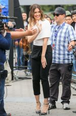 MANDY MOORE on the Set of Extra in Universal City 05/31/2017