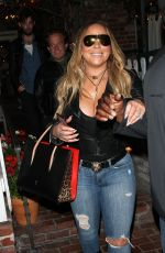 MARIAH CAREY at Ivy Restaurant in Beverly Hills 06/06/2017