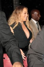 MARIAH CAREY Out for Dinner in Beverly Hills 06/02/2017