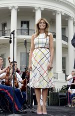 MELANIE TRUMP at White House Congressional Picnic in Washington D.C. 06/22/2017