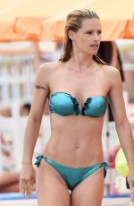 MICHELLE HUNZIKER in Bikini on the Beach in Varigotti 06/22/2017