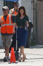MICHELLE MONAGHAN on the Set of Saint Judy in Los Angeles 06/01/2017