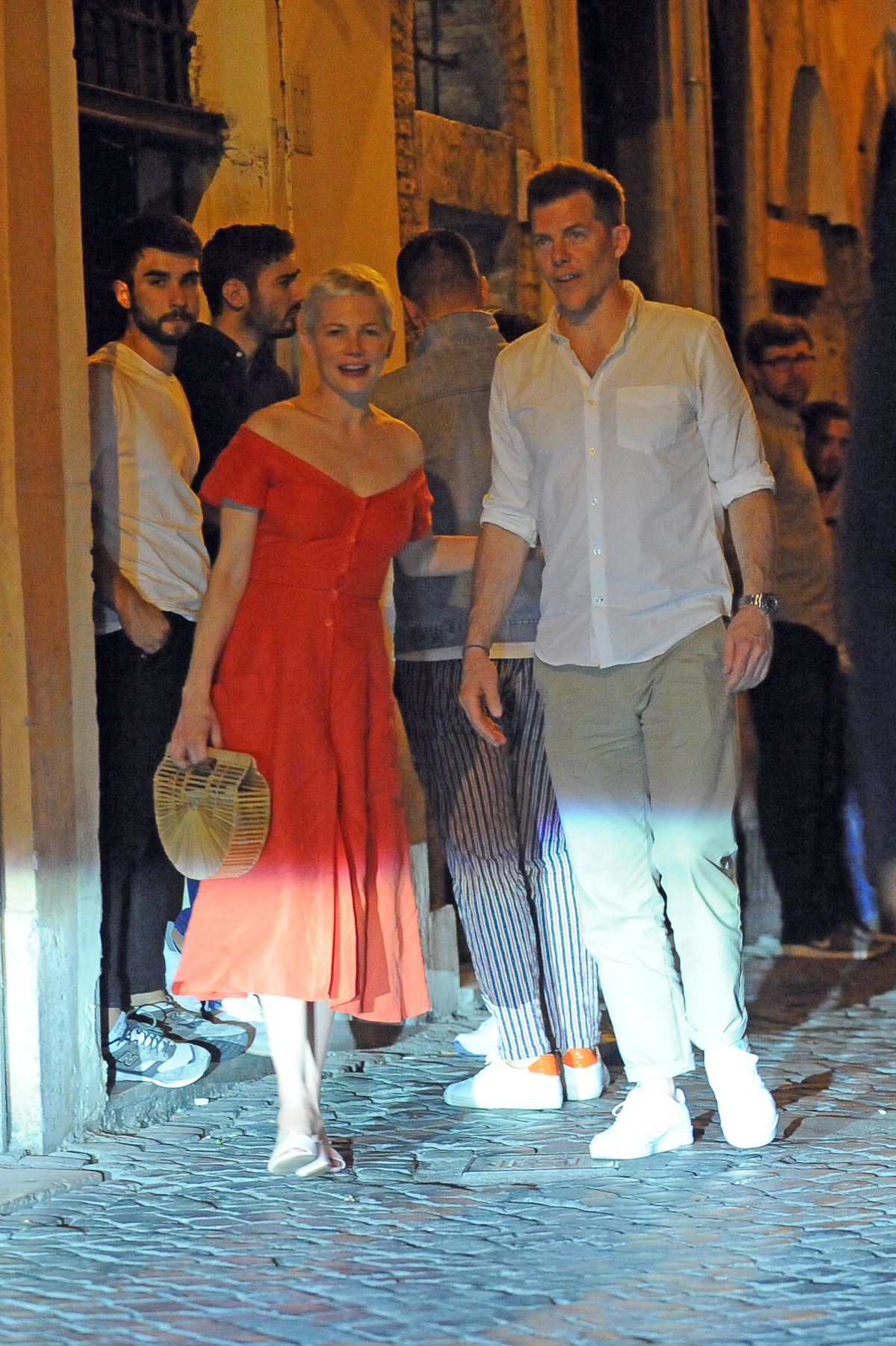 MICHELLE WILLIAMS Out for Dinner in Rome 06/19/2017