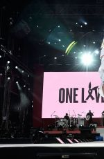 MILEY CYRUS Performs at One Love Manchester Benefit Concert in Manchester 06/04/2017
