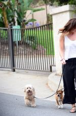 MINKA KELLY at a Dog Park in Los Angeles 06/26/2017