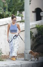 MINKA KELLY Out Walks Her Dog in Hollywood 06/23/2017