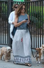 MINKA KELLY Out with Her Dogs in Hollywood 06/20/2017