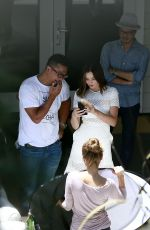 MIRANDA KERR on the Set of a Photoshoot in Hollywood 06/14/2017