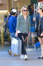 MISCHA BARTON Out Shopping at The Grove in Hollywood 06/19/2017