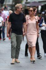 MYLEENE KLASS and Simon Motson Out in London 06/13/2017