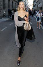 NATASHA POLY Leaves Versace Fashion Show in Milan 06/17/2017
