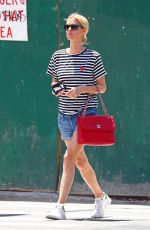 NICKY HILTON in Denim Shorts Out in New York 06/27/2017