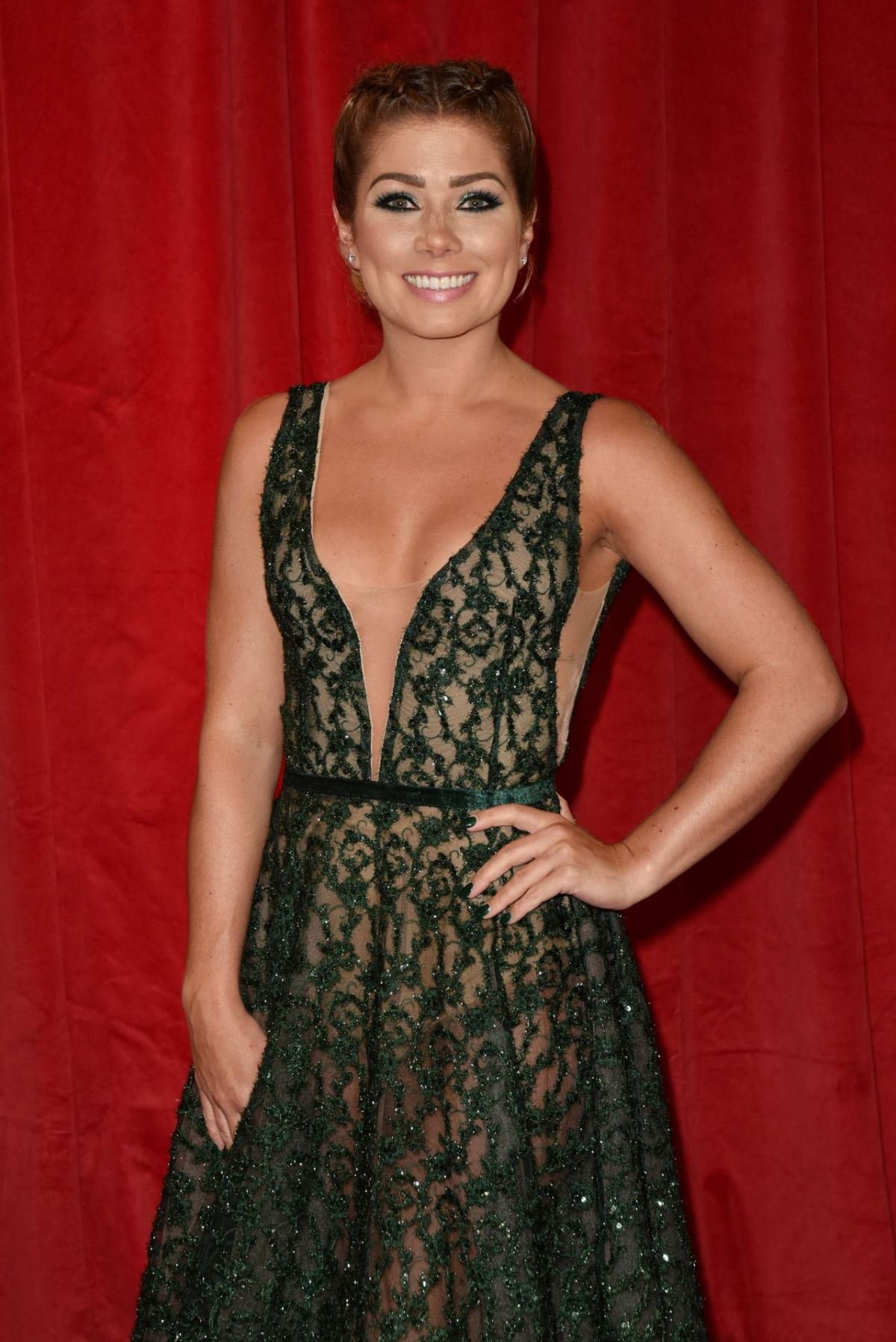 NIKKI SANDERSON at British Soap Awards in Manchester 06/03/2017