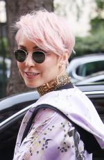 NOOMI RAPACE Leaves Plaza Athenee Hotel in Paris 06/24/2017