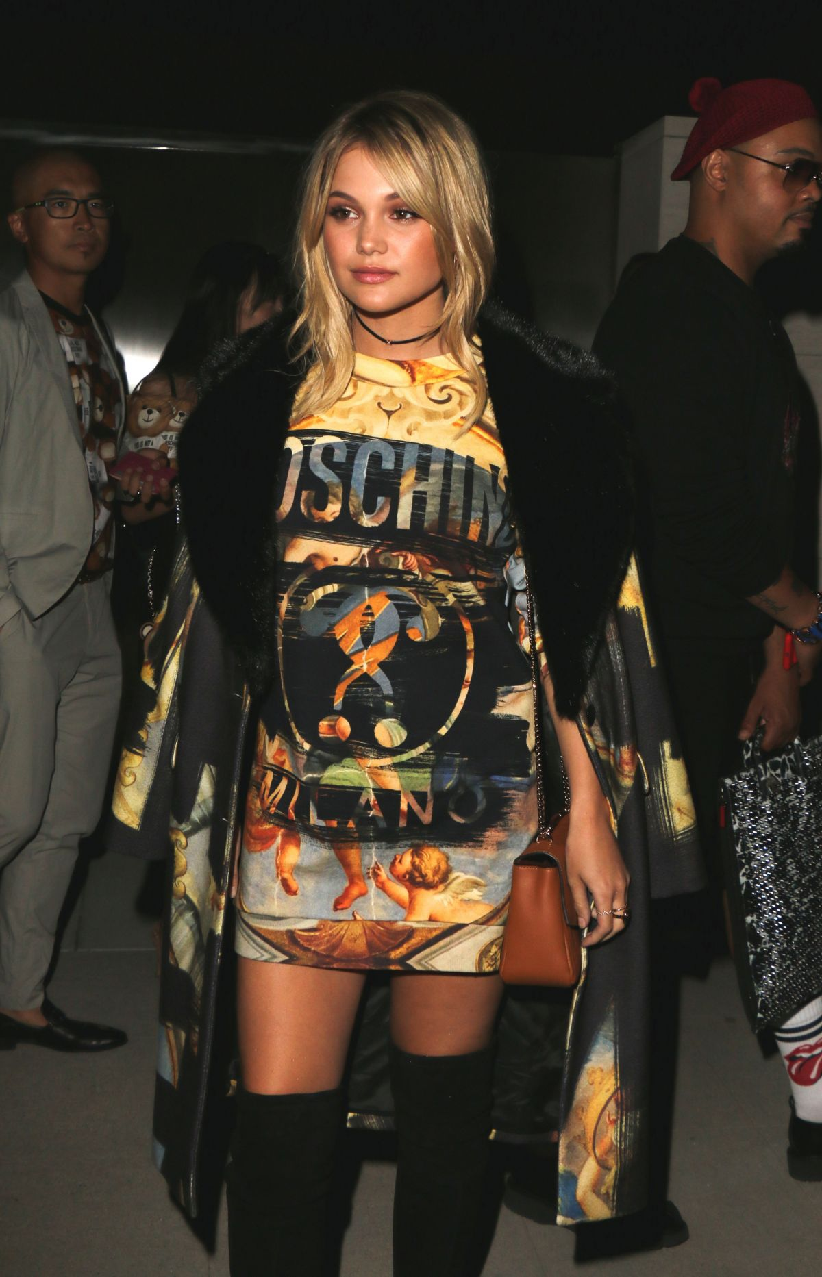 OLIVIA HOLT Arrives at Moschino Spring Summer Party 06/08/2017
