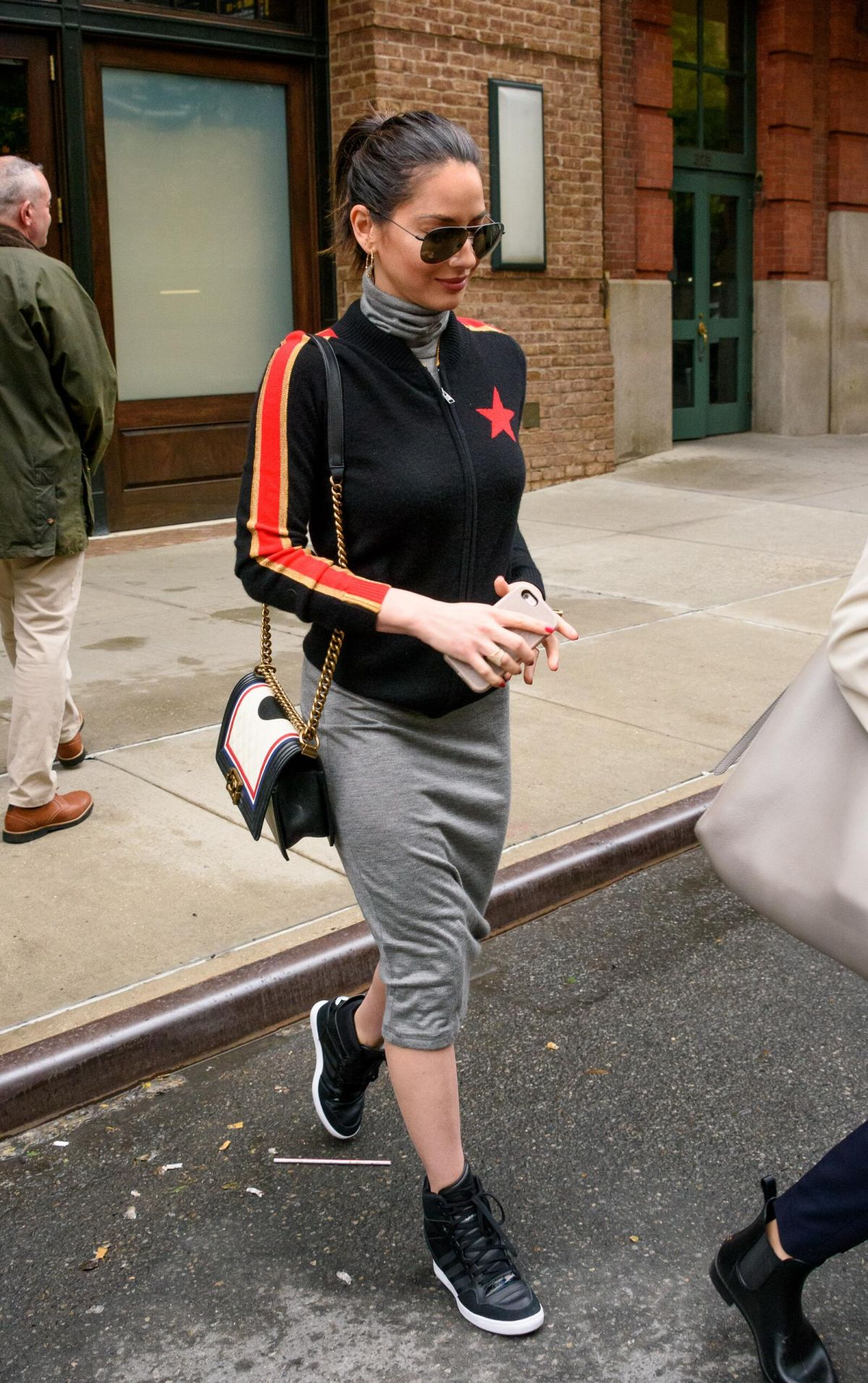 OLIVIA MUNN Leaves Her Hotel in New York 06/06/2017